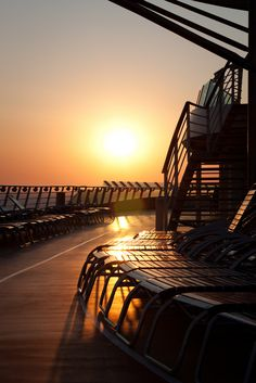 Sunset on Navigator of the Seas.