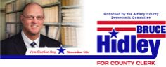 Bruce Hidley for County Clerk, design by Blue State Strategies