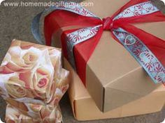 The origami box instructions below can be used to make a homemade gift box in a variety of sizes...