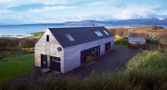 The Shed Tokavaig, a beautiful architect-designed holiday cottage on the north side of Sleat. Fantastic views to the Cuillins and towards Rhum and Canna. Self Build House Kits, Self Build Houses, House Plans, Shed Homes, Kit Homes, Building Design, Building A House, Building Ideas, Small House Swoon
