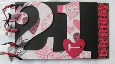 21st Birthday Guest Book handcrafted by Incy Wincy Designs