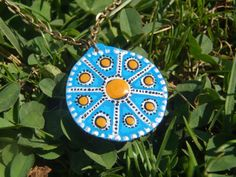 9 Moons Wooden Pendant by LuceCultura on Etsy, €8.00