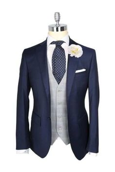 Online Shop 2018 New tailored custom made suits Groom tuxedos wedding suits for mens 3 pieces suits (coat Pants Groom Wear, Groom Attire, Groomsmen Suits, Best Groom Suits, Groom Outfit, Mens Clothing Uk, Groom Tuxedo Wedding, Mens Wedding Suits Navy, Wedding For Men