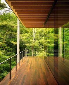 Glass/Wood House by Kengo Kuma  Associates An addition to a residence designed by Joe Black Leigh.