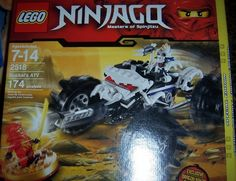 This LEGO building set is suitable for children aged 7 years and above.     LEGO Ninjago, Nuckal's ATV Play Set:    •174 pieces   •Features a 4-wheel ATV   •Includes:   •Kai mini-figure wearing a dragon suit   •Golden spinner   •Nuckal skeleton figure   New in Box