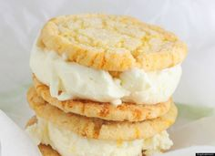 Ice Cream SandwiLemon Ice Cream Sandwich Cookies