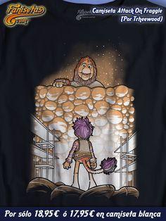 """Nos despedimos con """"Attack On Fraggle"""" por #Trheewood. Una parodia con los #FraggleRock y la portada del #Anime del momento #AttackOnTitan! #Camisetas #Series #Fanisetas Mañana más y mejor! http://www.fanisetas.com/camiseta-attack-on-fraggle-p-5040.html"""