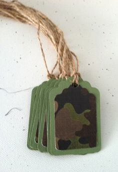 12 Military Party Gift tags/Army Camouflage by JustSimplyHandmade