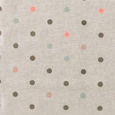 Tekstilvoksdug natur m multifv prikker
