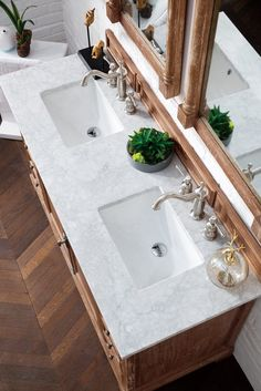 "60"" Providence Driftwood Double Sink Bathroom Vanity#bathroom #double #driftwood #providence #sink #vanity Vanity Set, 60 Inch Vanity, Vanity Countertop, Marble Vanity Tops, Marble Top, White Marble, Double Sink Bathroom, Bathroom Sink Vanity, Bath Vanities"
