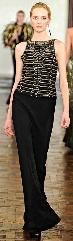 Ralph Lauren - black gold vest dress
