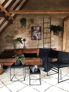30 Amazing Living Room Design Ideas You Must Try - industrial living room decor idea - Industrial Interior Design, Vintage Industrial Furniture, Industrial House, Industrial Interiors, Industrial Bedroom Decor, Modern Industrial Furniture, Brick Interior, Modern Home Interior Design, Industrial Farmhouse