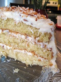 Coconut Cream Cake | A Hint of Honey (great batter recipe)