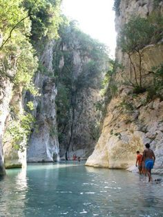 "Acheron River, Parga. (river of woe/pain) Mythical river ""Styx"", Greece"