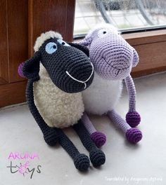 FREE!!!  MULTI-LINGUAL PATTERN!  Purple Sheep Sheep Preparation-Amigurumi Amigurumi Free Pattern - Tiny Mini Designer