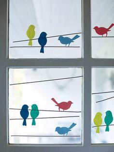 Bird Window Stickers contemporary-decals