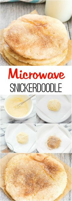 Microwave Snickerdoodle Cookie – Kirbie {Kirbie's Cravings} Microwave Snickerdoodle Cookie Hello everyone, Today, we have shown Kirbie {Kirbie's Cravings} Microwave Snickerdoodle. Make one single, chewy and soft snickerdoodle cookie in just a few minutes! Mug Recipes, Baking Recipes, Cookie Recipes, Dessert Recipes, Microwave Cookies, Microwave Recipes, Microwave Food, Microwave Cooking For One, Easy Microwave Desserts