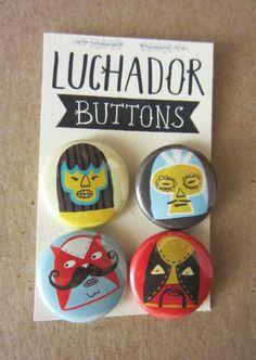 Luchadore Buttons