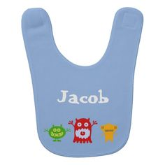 Little Monsters Personalized Baby Bib