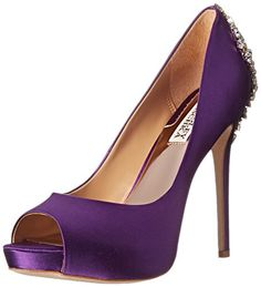 Badgley Mischka Women's Kiara Platform Pump, Purple, 7.5 M US