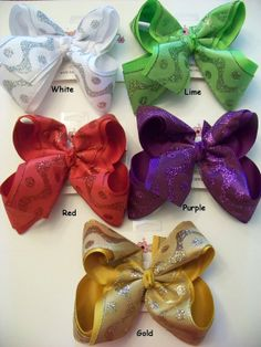 JUMBO XLARGE 2 Layer Glitter Wavy Dots Hair Bow Choose Color by karenscreations1, $10.98 Get your sparkle on with one of these great bows! #karenscreations #hairbow #boutique #jumbo #glitter