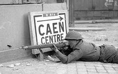 Canadian Rifleman in Caen