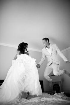 Cutest ever for a wedding shot!