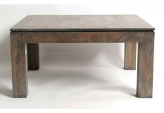 Table basse h v a massif gris carr e - Table basse carree grise ...