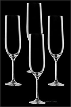 Set 4 LeadFree Crystal 675 oz Stemmed Champagne Flute Glasses *** You can get more details by clicking on the image.