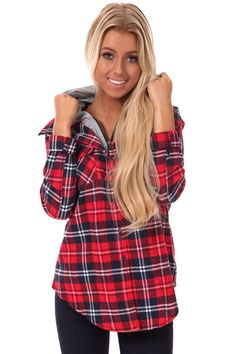 Lime Lush Boutique - Red and Navy Plaid Flannel Jacket, $34.99 (http://www.limelush.com/red-and-navy-plaid-flannel-jacket/)#fashionblog #instafashion #photomodel #beauty #trend #queen #day #us #follow #girl #dress #princess #look #lookbook #like #beautiful #cute #sexy #iphonesia