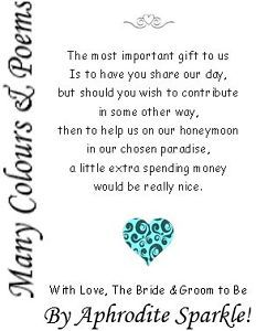 Wording For Wedding Invitations Asking Money Google Search