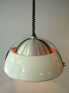 Space age style retro pendant light