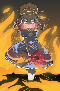 """""""""""In the rare instance where you need to tie your shoelaces and set a building on fire!"""" Crescenta You silly billy You don't have shoelaces """" Character Design, Cute Anime Character, Kawaii, Adventure Time Girls, Animation, Star Vs The Forces Of Evil, Cute Drawlings, Cartoon, Cute Cartoon Wallpapers"""