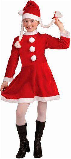 d5c801ae8fa4 Party with Lil Ms Santa's Helper Deluxe Costume Child. Light up the party  with Holiday Costumes for Christmas at PartyBell.