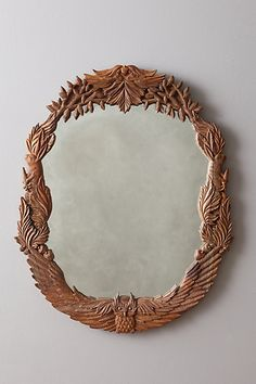 now wouldnt it be something to carve on of THESE out?  Handcarved Menagerie Mirror #anthropologie