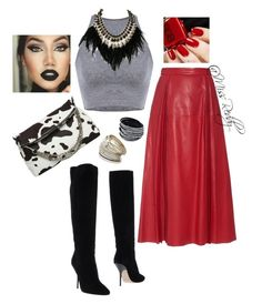 """""""Untitled #90"""" by missreddy on Polyvore featuring Gucci, Donald J Pliner, Jimmy Choo, WithChic and Miss Selfridge"""