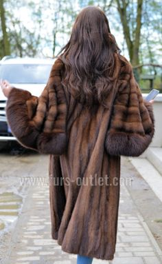 DEMI BUFF ROYAL MINK FUR LONG SWINGER COAT CLASS OF SABLE CHINCHILLA FOX JACKET