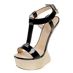 BELLR V Leder Damen Keilabsatz T-Strap Sandals Schuhe (weitere Farben) - http://on-line-kaufen.de/bellr-v/bellr-v-leder-damen-keilabsatz-t-strap-sandals