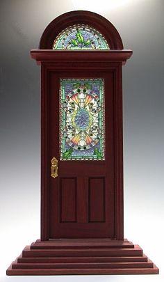 plique-a-jour enamel miniature stained glass by Enamel Artist Diane Echnoz Almeyda