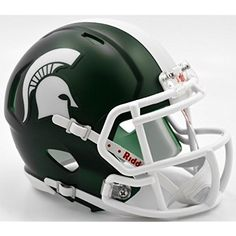 Michigan State Spartans Alternate Satin Riddell Speed Mini Football Helmet         *** Check this awesome product by going to the link at the image. (This is an affiliate link) #SportsCollectibles