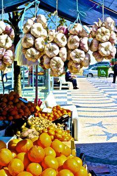 The market in Caldas da Rainha, Lisbon, Portugal