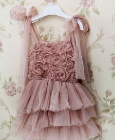 PERFECT FOR DINAH!!!!! Vintage Inspired Dusty Pink Flower girl by RaqRobesCollection