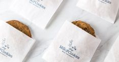 CRP partnered with head chef and co-founder Baron Doke to create Tiny Boxwoods, an experience tailored to the West University Community. Biscuits Packaging, Baking Packaging, Bread Packaging, Dessert Packaging, Food Packaging Design, Retail Packaging, Cookies Branding, Bakery Branding, Logo Cookies