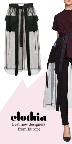 DIY Tulle Skirt Tulle mesh skirt with adjustable belts and pockets. Best new European fashion from C Fashion Details, Diy Fashion, Ideias Fashion, Fashion Dresses, Womens Fashion, Fashion Tips, Fashion Trends, Fashion Online, Fashion Stores