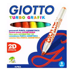 Kids Effects Marker Pens Giotto Turbo 2D Effects Pack of 8 www.greenanttoys.com.au