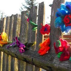 Hand Flowers, Handmade Flowers, Flower Brooch, Flower Making, Hair Pins, Valentines Day, Rainbow, Crafts, Vintage
