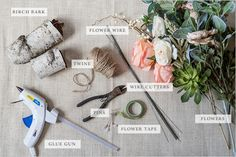 DIY silk flower bouquet supplies