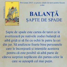 #Horoscop2015: Ce prezic cartile de tarot pentru zodia Balanta Zodiac, Libra, Tarot, Astrology, Virgo, Libra Sign, Virgos, Horoscope, Balance Sheet