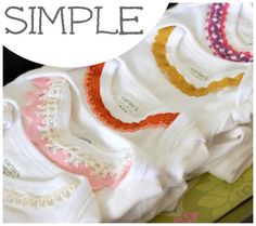 what a simple and cute way to dress up a girl's onesie!