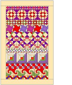 Row by Row Quilt Pattern - PDF version